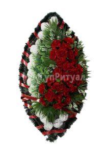 Венок ритуальный на похороны серия «заказной» №41